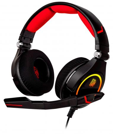 Thermaltake Гарнитура игровая Tt eSPORTS Cronos RGB 7.1 (Black) гарнитура tt esports cronos ht cro008ecbl black