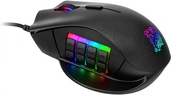 Мышь проводная Tt eSPORTS Nemesis RGB чёрный USB набор tt esports commander combo kb ccm plblru 01