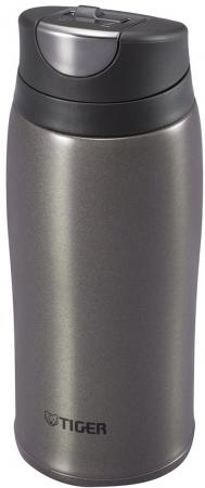 Термокружка Tiger MCB-H036 Gun Metallic, 0.36 л (нержавеющая сталь, цвет темно-серый) термокружка tiger mmp s030 champagne gold 0 3 л нержавеющая сталь цвет шампанского