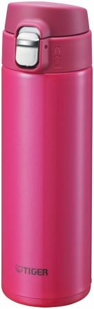 Термокружка Tiger MMJ-A048 Passion Pink 0,48 л (цвет страстно-розовый, откидная крышка на кнопке, нержавеющая сталь)