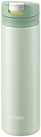Термокружка Tiger MMX-A030 Mint Green 0,3 л (цвет мятно-зеленый, откидная крышка на кнопке, нержавеющая сталь)
