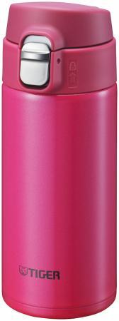 Термокружка Tiger MMJ-A036 Passion Pink 0,36 л (цвет страстно-розовый, откидная крышка на кнопке, нержавеющая сталь)