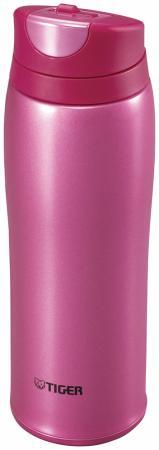 Термокружка Tiger MCB-H048 Raspberry Pink, 0.48 л (цвет - малиновый) термокружка tiger mcm t t050 clear stainless 0 5 л 1183530