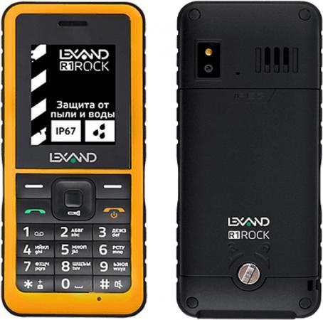 Защищенный Tелефон LEXAND R1 ROCK (черно-желтый) 2SIM/защита IP67 /0.3Mpix/FM/BT/фонарик/1000мАч torex защищенный смартфон torex s18 черно оранжевый