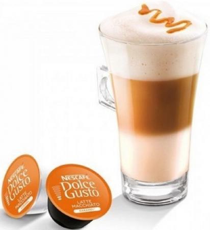 Кофе в капсулах Dolce Gusto Latte Macchiato Caramel 168.8 грамм 12136960 кофеварка krups dolce gusto kp 100b