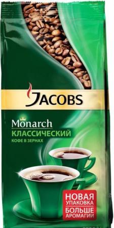 цена Кофе в зернах Jacobs Monarch 4251756 230 грамм онлайн в 2017 году
