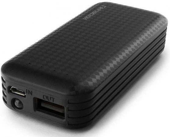 Гарнизон GPB-104 Портативный аккумулятор 4000 мА/ч, 1 USB, 1A, фонарик, черный аккумулятор гарнизон 4000mah black gpb 104