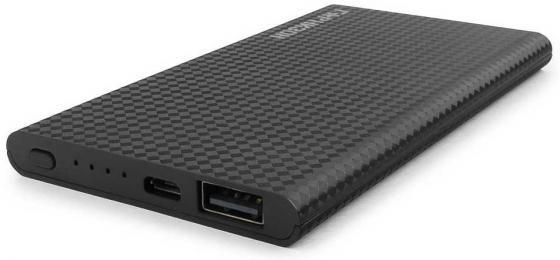 Гарнизон GPB-105 Портативный аккумулятор 5000 мА/ч, 1 USB, 1A, черный аккумулятор гарнизон 4000mah black gpb 104