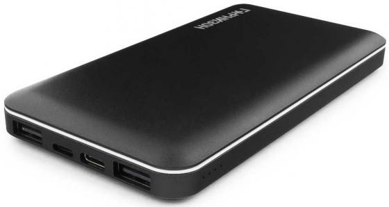 Гарнизон GPB-710 Портативный аккумулятор 10000мА/ч, 2 USB, Type-C, Lightning, 2.4A, черный