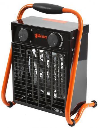 Тепловентилятор Wester TB-3/6 3000 Вт чёрный оранжевый цена