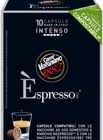 Кофе в капсулах Vergnano Espresso: Intenso кофе в капсулах tassimo карт нуар кафе лонг интенс 128г