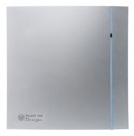 Вентилятор SOLER&PALAU SILENT-200 CZ SILVER DESIGN-3C 175 м3/ч. Установочный д 116 мм. 5 dB(A)
