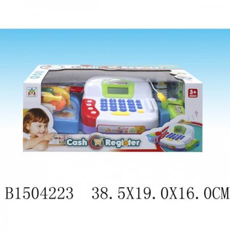 Кассовый аппарат на бат., свет+звук, продукты + аксесс. LS820A20-1 в кор. в кор.2*12шт