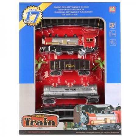 Железная дорога на бат., со звуком 2211-7 в кор. в кор.2*18шт железные дороги shantou gepai железная дорога бронепоезд