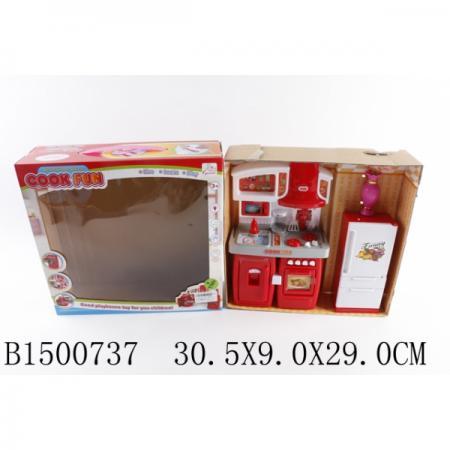 Мебель для кукол кухня, на бат. свет+звук, с аксесс. SY-2064-3 в кор. в кор.2*18шт доска для рисования на бат свет звук очки 3d аксесс 840 2 в кор 38 30 5см в кор 2 18шт