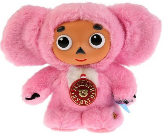 цена на Мягкая игрушка чебурашка МУЛЬТИ-ПУЛЬТИ V85058/17G 23 см розовый текстиль пластмасса металл