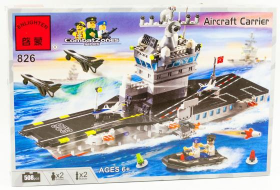 Конструктор ENLIGHTEN BRICK Авианосец 508 элементов 826 конструктор brick авианосец 826