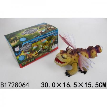 Игрушка на бат. динозавр, свет+звук 3317 в кор в кор.2*18шт игрушка динозавр древний гигант 47см движение свет звук