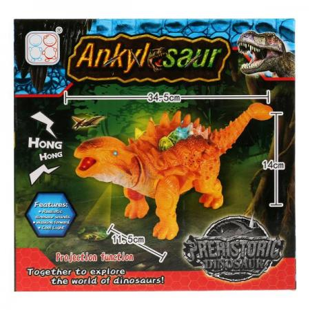 Игрушка на бат. динозавр, свет+звук, цвет в ассорт. 3316 в кор. в кор.2*36шт игрушка динозавр древний гигант 47см движение свет звук