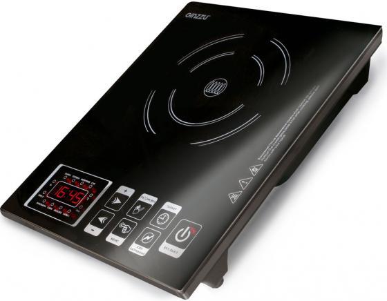 лучшая цена Плитка индукционная GINZZU HCI-131 черная, 2000Вт., сенсорное управление, 1 конфорка