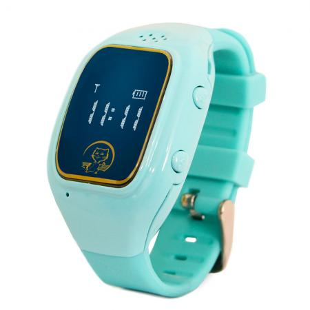 "Умные часы детские GiNZZU GZ-511 blue, 0.66"", micro-SIM, GPS/LBS/WiFi-геолокация, датчик снятия с руки"
