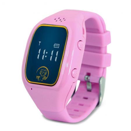 """Умные часы детские GiNZZU GZ-511 pink, 0.66"""", micro-SIM, GPS/LBS/WiFi-геолокация, датчик снятия с руки цена и фото"""