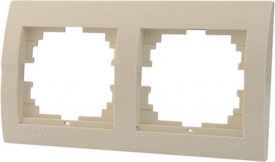 Рамка LEZARD 702-0300-147 2-ая горизонтальная серия скр.проводки Дери кремовый