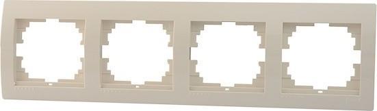 Рамка LEZARD 702-0300-149 4-ая горизонтальнаясерия скр.проводки Дери кремовый