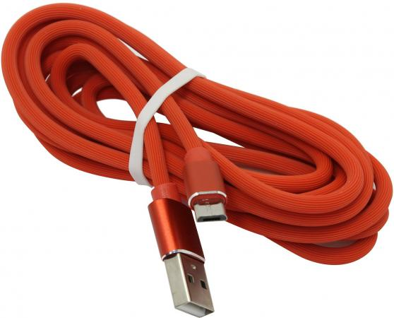 Фото - Кабель microUSB 2м Jet.A JA-DC24 круглый красный кабель microusb 1 2м belkin mixit metallic круглый f2cu021bt04 slv