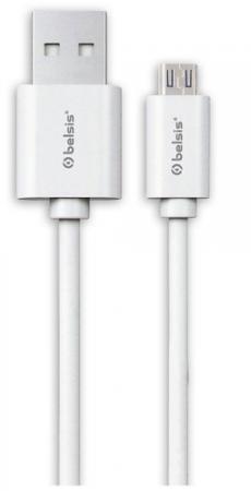 Кабель Belsis USB 2.0, A - MicroUSB, вилка - вилка, 0.95 м., белый, BS3013 цена и фото