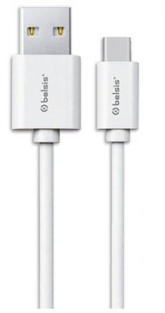 Кабель Belsis USB 2.0 A - USB Type C вилка - вилка, 0.95 м., белый, BS3016 кабель belsis lightning usb а белый 0 95 м bs3015