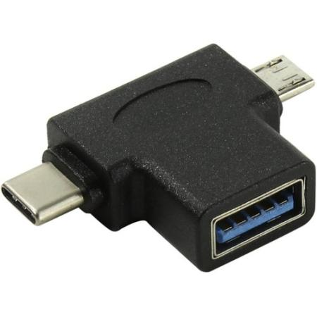 Фото - Переходник microUSB Type-C USB 3.0 VCOM Telecom CA434 черный кабель hama microusb usb type c черный 0 75м 00135713