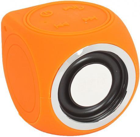 Купить Портативная беспроводная музыкальная колонка CW Cubic Box (цвет оранжевый, карабин и USB кабель в комплекте), 1 колонка