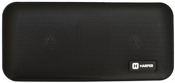 Купить Портативная колонка HARPER PSPB-200 Black Беспроводная акустика / 2 x 5 Вт / 180 - 18000 Гц / Bluetooth 4.2 / microSD, 1 колонка