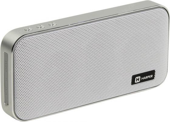 Купить Портативная колонка HARPER PSPB-200 White Беспроводная акустика / 2 x 5 Вт / 180 - 18000 Гц / Bluetooth 4.2 / microSD, 1 колонка