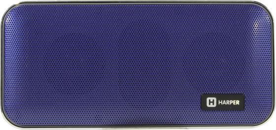 Портативная колонка HARPER PSPB-200 Blue Беспроводная акустика / 2 x 5 Вт / 180 - 18000 Гц / Bluetooth 4.2 / microSD портативная колонка harper ps 030 red беспроводная акустика 5 вт 175 20000 гц bluetooth 4 0 microsd