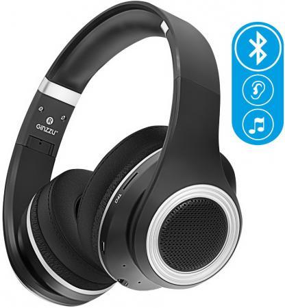 Наушники беспроводные GiNZZU GM-651BT, черные, наушники/гарнитура Bluetooth/microSD/FM-радио все цены