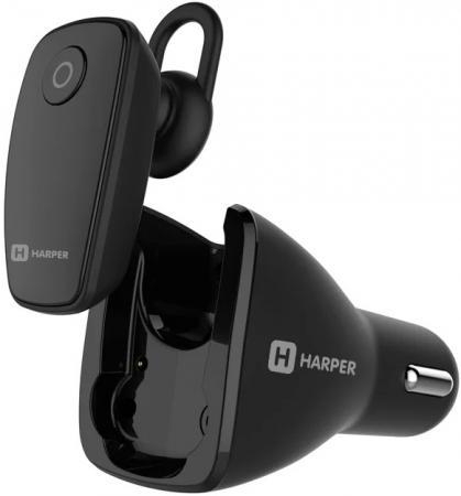 Гарнитура беспроводная плюс автомобильная зарядка HARPER HBT-1723 black гарнитура беспроводная плюс автомобильная зарядка harper hbt 1723 black