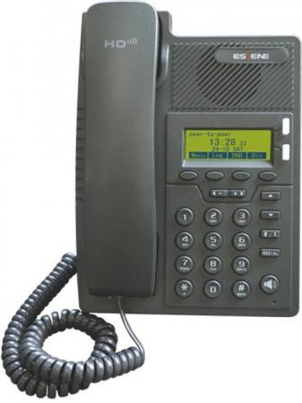 SIP-телефон Escene ES205-PN ES205-PN 2 SIP аккаунта, 128x64 LCD-дисплей, 4 программируемы клавиши, XML/LDAP, регулируемая подставка, 2xRJ45, POE, EP+ телефон ip grandstream gxp1628 2 линии 2 sip аккаунта 2x10 100 1000mbps lcd poe blf неисправное оборудование