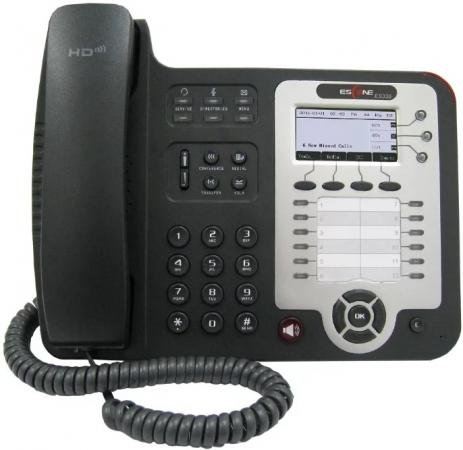 SIP-телефон Escene ES330-PEN 3 SIP аккаунта; 132x64 LCD-дисплей; 8 программируемых клавиш, 12 клавиш быстрого набора BLF, XML/LDAP; регулируемая подст телефон ip grandstream gxp1628 2 линии 2 sip аккаунта 2x10 100 1000mbps lcd poe blf неисправное оборудование