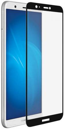 Закаленное стекло с цветной рамкой (fullscreen) для Huawei P Smart DF hwColor-37 (black)