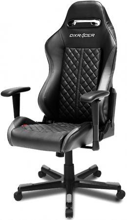 все цены на Игровое кресло DXRacer Drifting чёрное (OH/DF73/N, кожа-PU, регулируемый угол наклона, механизм качания)