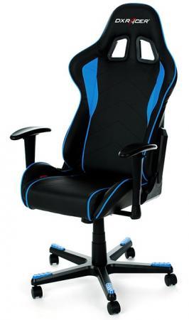 Игровое кресло DXRacer Formula чёрно-синее (OH/FE08/NB, экокожа, регулируемый угол наклона) игровое компьютерное кресло oh ks06 nb