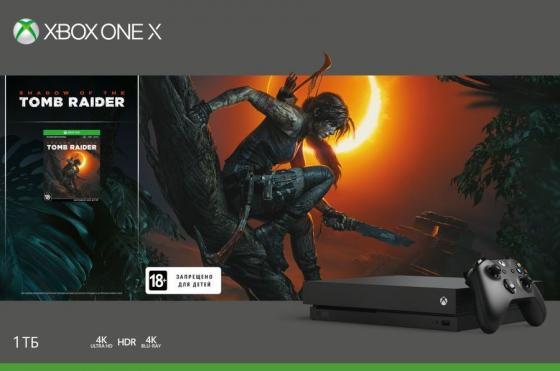 Игровая консоль Xbox One X с 1 ТБ памяти и игрой Shadow of the Tomb Raider CYV-00106
