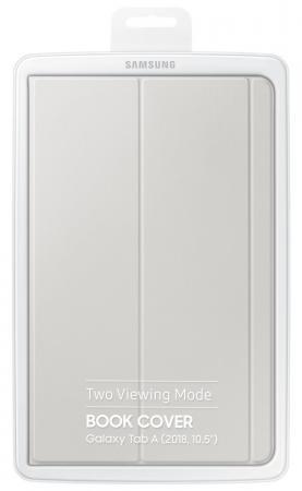 Чехол Samsung для Samsung Galaxy Tab A 10.5 Book Cover полиуретан/поликарбонат серый (EF-BT590PJEGRU) чехол samsung для samsung galaxy tab a 8 0 2017 book cover полиуретан поликарбонат черный ef bt385pbegru
