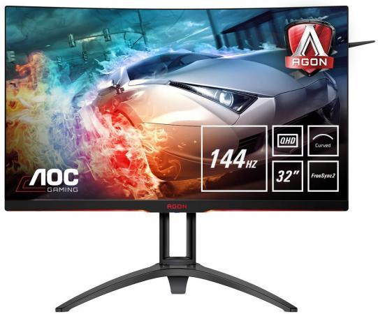 Монитор 32 AOC AG322QC4 черный VA 2560x1440 400 cd/m^2 4 ms HDMI VGA DisplayPort USB Аудио