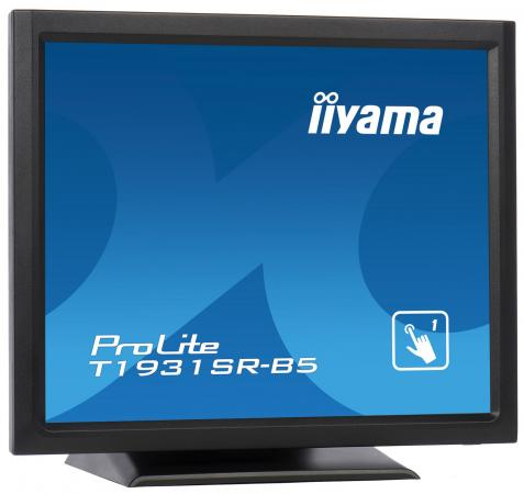 Монитор 19 iiYama T1931SR-B5 черный TN 1280x1024 250 cd/m^2 5 ms HDMI DisplayPort VGA USB монитор iiyama t1931saw b5