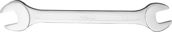 Ключ рожковый NEO 09-810 (10 / 11 мм) с открытым зевом нож электромонтажника neo 1000 в 195 мм 01 550