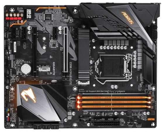 Материнская плата GigaByte Z390 AORUS ELITE Socket 1151 v2 Z390 4xDDR4 2xPCI-E 16x 4xPCI-E 1x 6 ATX Retail цена и фото