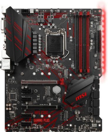 Материнская плата MSI MPG Z390 GAMING PLUS Socket 1151 v2 Z390 4xDDR4 2xPCI-E 16x 4xPCI-E 1x 6 ATX Retail цена и фото